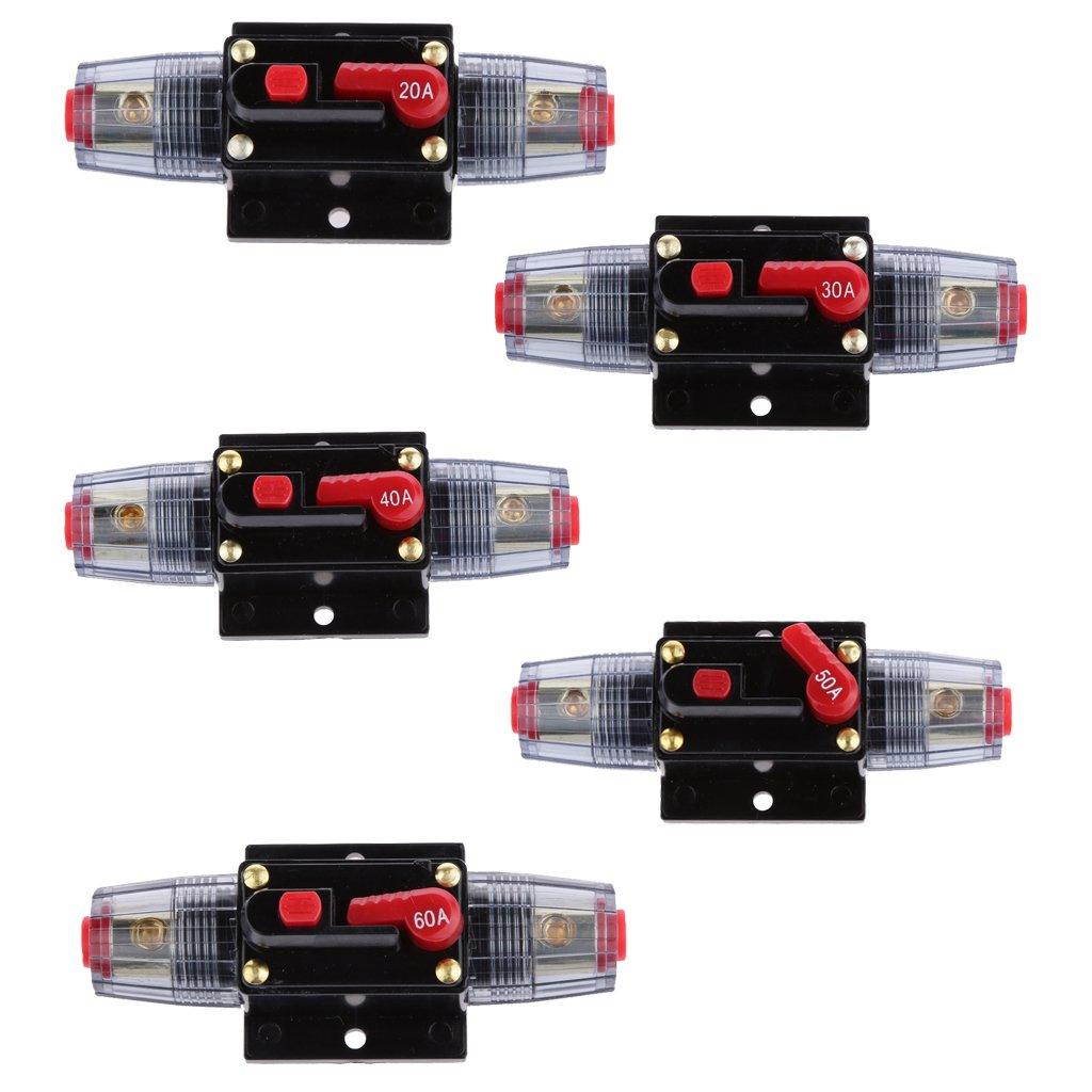 Desconocido 12v-24v Interruptor Ajuste Manual L/ínea Circuito Autom/ático Interruptor 60A Fusible Audio Coche