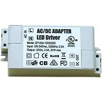 Transformateur d'alimentation LED Adogo - 60 W, 12 V CC, 5 A - Tension constante pour lampes à LED et ampoules LED G4, MR11, MR16