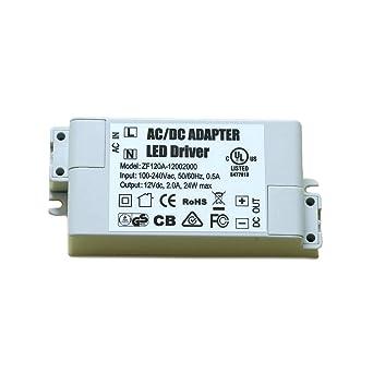 ADOGO LED transformador fuente de alimentación LED 60 W, 12 V CC, 5 A