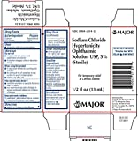 (2 Pack) Sodium Chloride Ophthalmic Solution 5% (15 mL) Pack of 2 Bottles *Compare to Muro 128 & Save!*