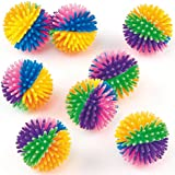 Rainbow Coloured Hedgehog Balls Party Bag Fillers, Children's Toys, Prizes (Pack of 8)