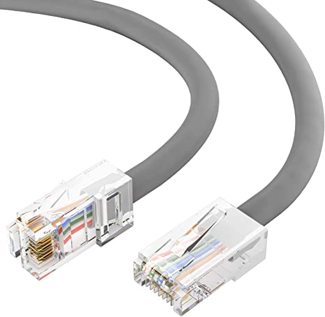 7Ft Cat6 Ethernet RJ45 Lan Wire Network Gray UTP 7 Feet Patch Cable 5 Pack