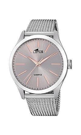 def889f4ebcf Lotus Watches Reloj Análogo clásico para Hombre de Cuarzo con Correa en  Acero Inoxidable 18570 3  Amazon.es  Relojes