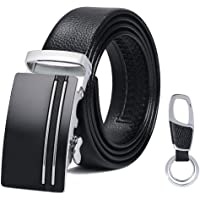 flintronic ® Cinturón Cuero Hombre, Cinturones Piel con Hebilla Automática, Sencillo y Clásico Perfecto Regalo