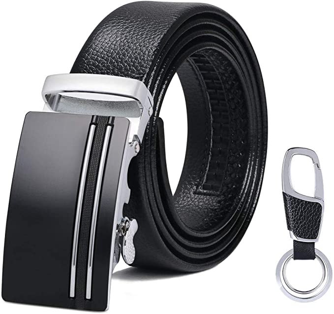 Cintur/ón Para Hombres Traje Para Ropa Formal//Jeans Cintur/ón Cuero Hebilla Autom/ática Wilbest Cintur/ón Cuero Hombre Cinturones Piel con Hebilla Autom/ática