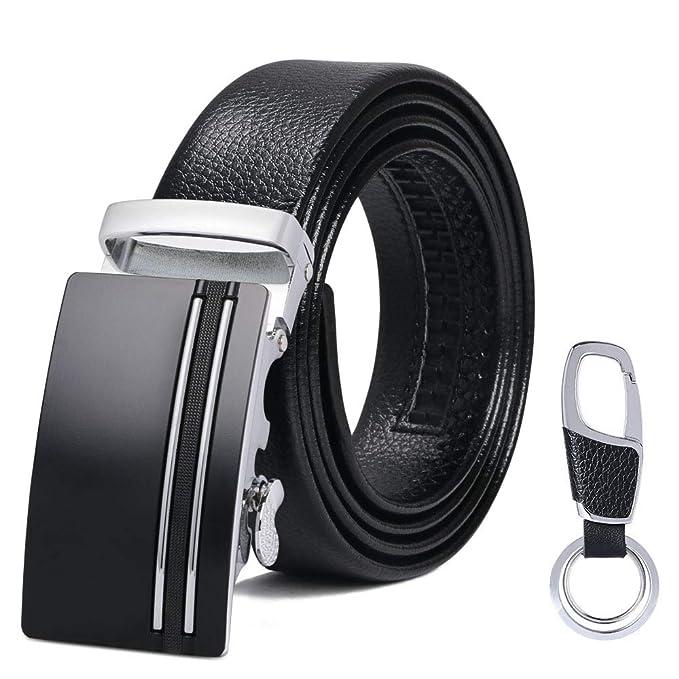 flintronic Cinturón Cuero Hombre, Cinturones Piel con Hebilla ...