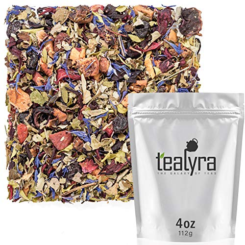 Tealyra - Scandinavian Wild Berry - Black Currant - Goji Berry - Hibiscus Health Tonic - Loose Leaf Tea - Relaxing - Anti-Inflammatory - Anti-Stress - Caffeine-Free - 112g (4-ounce)