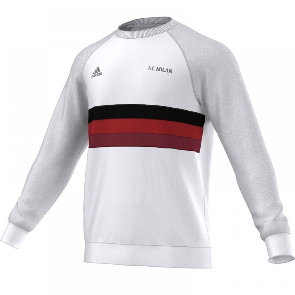 Adidas 2015-2016 AC Milan SF Crew Sweatshirt (White)
