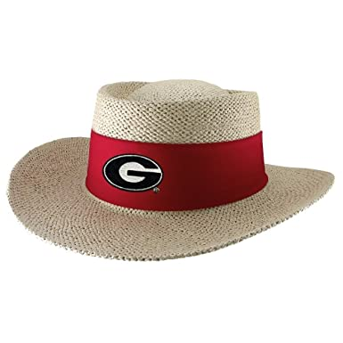 Georgia Bulldogs Tournament Straw Gambler Hat at Amazon Men s ... 5dfeef672fc