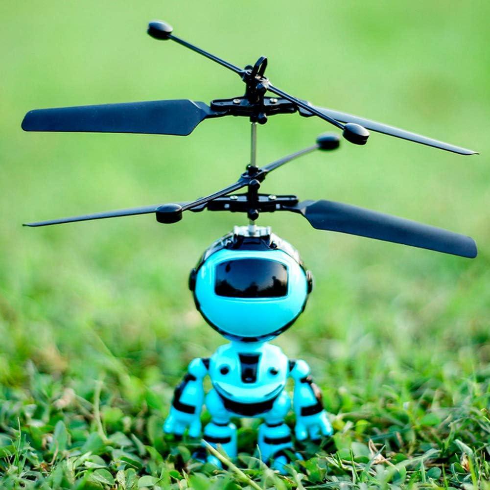 ZJchao Juguete Flotante del Aeroplano de la Inducci/ón del Robot Robot de Inducci/ón Manual de Carga USB Azul Que Cuelga el Juguete Lindo de los Ni/ños