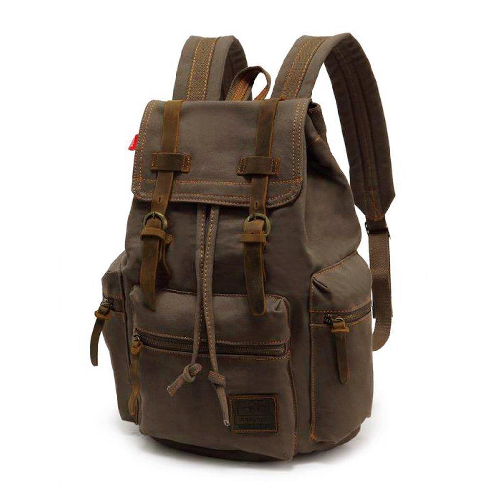 Amazon.com: Canvas Backpack, P.KU.VDSL-AUGUR SERIES Vintage Canvas ...
