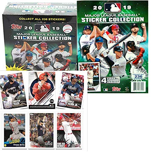 - 2019 Topps MLB Baseball Sticker Master Kit (1 50 pk box & 1 album)
