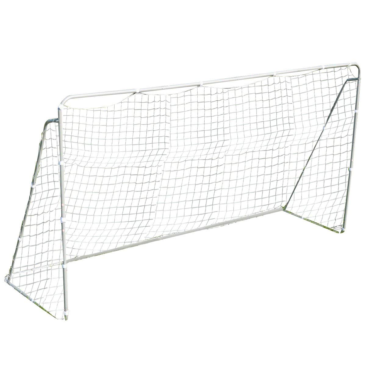 Giantex 12 x 6 Ft Soccer Goal w/ Net, Steel Frame and Velcro Straps, Indoor Outdoor Backyard Kids Children Soccer Goal by Giantex (Image #2)