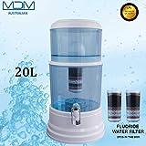20L 8 Stage Fluoride Water Filter Maifan Stone Dispenser Bottle Bonus 2 Filter