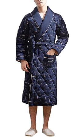 GKKXUE espesamiento de invierno de los hombres más tres capas de pijamas de (Color :