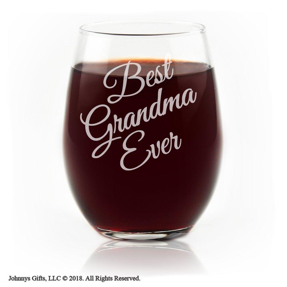 Movies On Glass - Best Grandma Ever Stemless Wine Glass