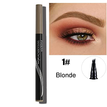 POPVCLY 4D Fork Tip Liquid Eyebrow Pens Tattoo mascara Pencil, Waterproof, Smudge proof (