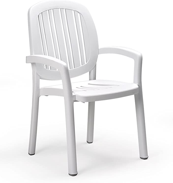 Sillon resina apilable ponza blanco: Amazon.es: Hogar