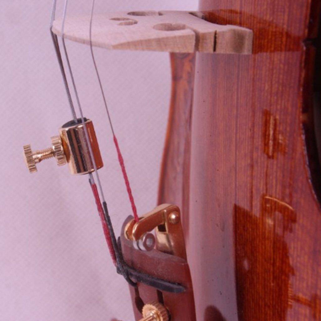 Timiy Set of 4 Elegant Brass Wolf Tone Gone Eliminator/Suppressor for Cello(Gold)