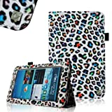 Fintie (Leopard Rainbow) Slim Fit Folio Case Cover for Samsung Galaxy Tab 7.0 Plus / Samsung Galaxy Tab 2 7.0 Tablet-Multiple Color Options, Best Gadgets
