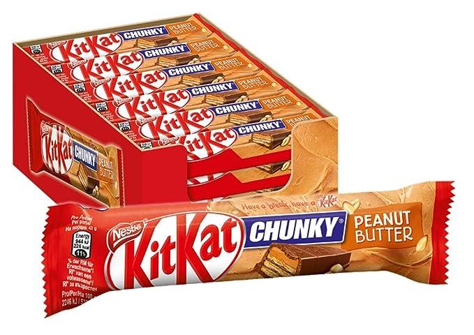 Nestlé Kitkat Chunky Peanut Butter 42g - Lot de 24  Amazon.fr  Epicerie 64c593a9396