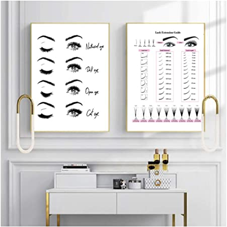 Fashion Art beauty room heart eyelashes Office bedroom girls modern art print
