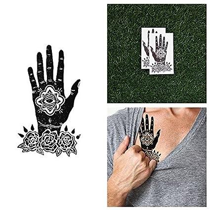 Tatuaje Temporal Tattify - Mano - Namaste (Juego de 2): Amazon.es ...