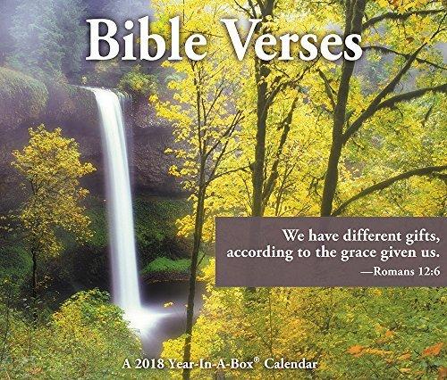 Bible Verses 2018 Boxed Desk Calendar - Bible Verse Niv