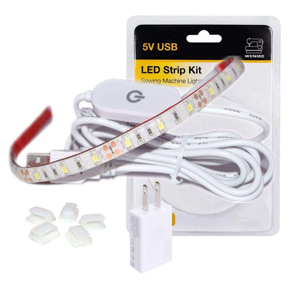 Wenice Sewing Machine Light – A cold sewing machine light LED strip that comes with a touch dimmer