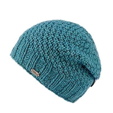 b1714881063c3d Kusan 100% Wool Button Down Beanie Hat (OneSize) PK1329 (Aqua): Amazon.co.uk:  Clothing