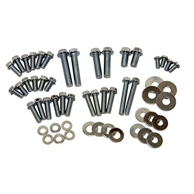 Factory Spec, IN-12700-1, 54 Piece Motorcycle Hardware Kit Assorted Metric Bolts & Washers 8mm 10mm M6 M8: Automotive