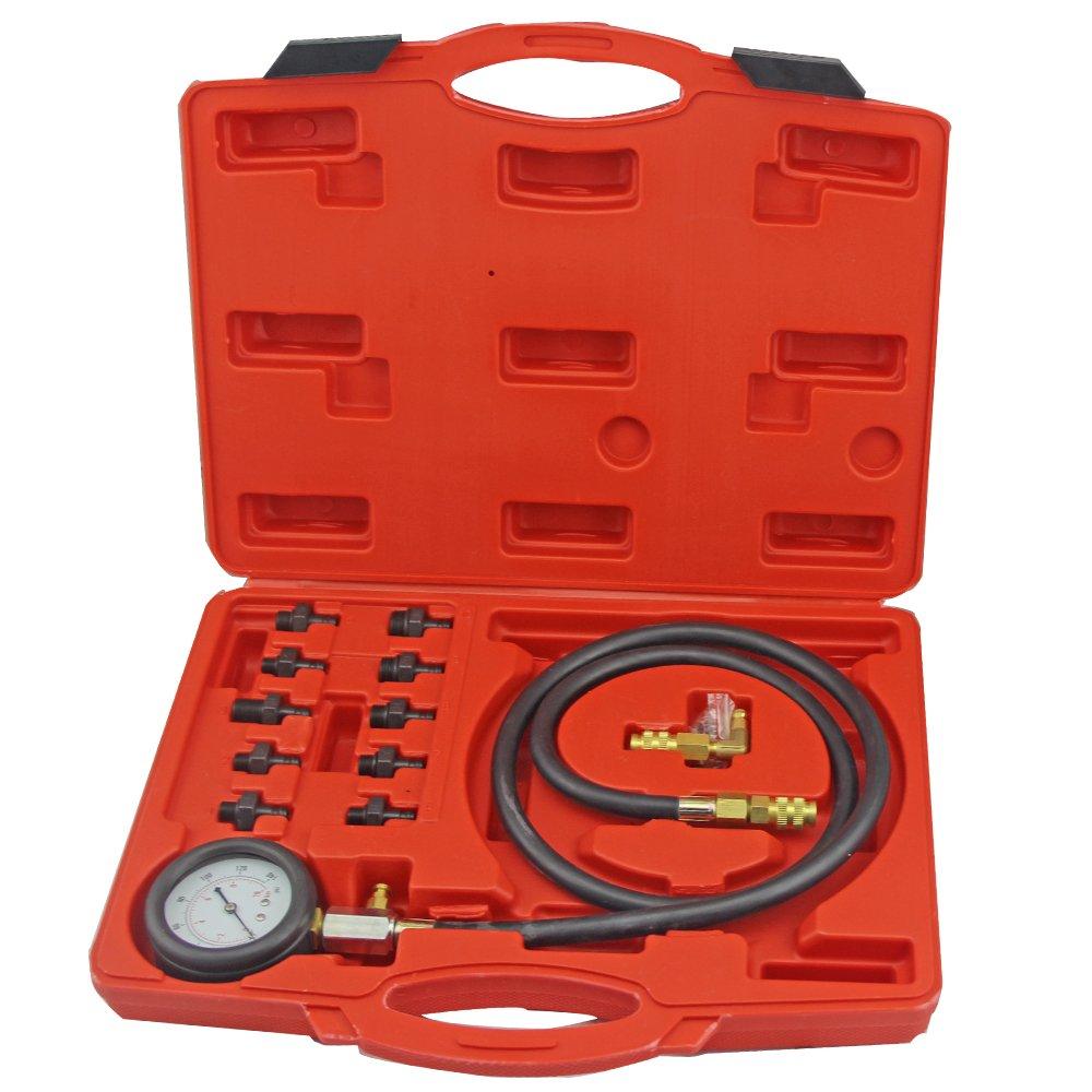 Full System Automotive Engine Oil Pressure Test Kit Tester Car Garage Tool 0-140PSI