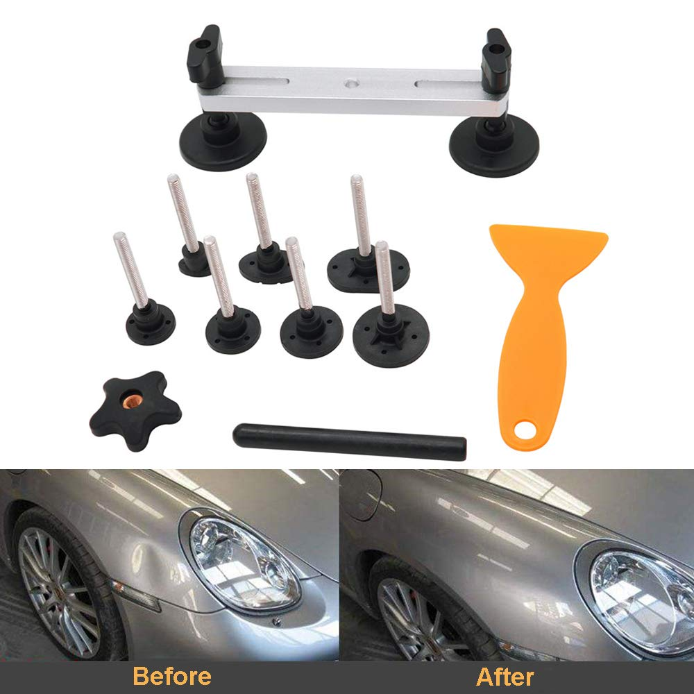 TourKing Dent Removal Kit, Car Dent Suction Puller, Dent Bridge Puller Sets Paintless Dent Removal Repair Tool