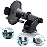 Universal Car Mount Phone Holder Windshield and Dashboard Car Mount Cellphone Holder Compatible iPhone X XS XR MAX 8 7 7s 6s Plus 6s 5s 5c Samsung Galaxy S8 Edge S7 S6 Note 5 Car Stand