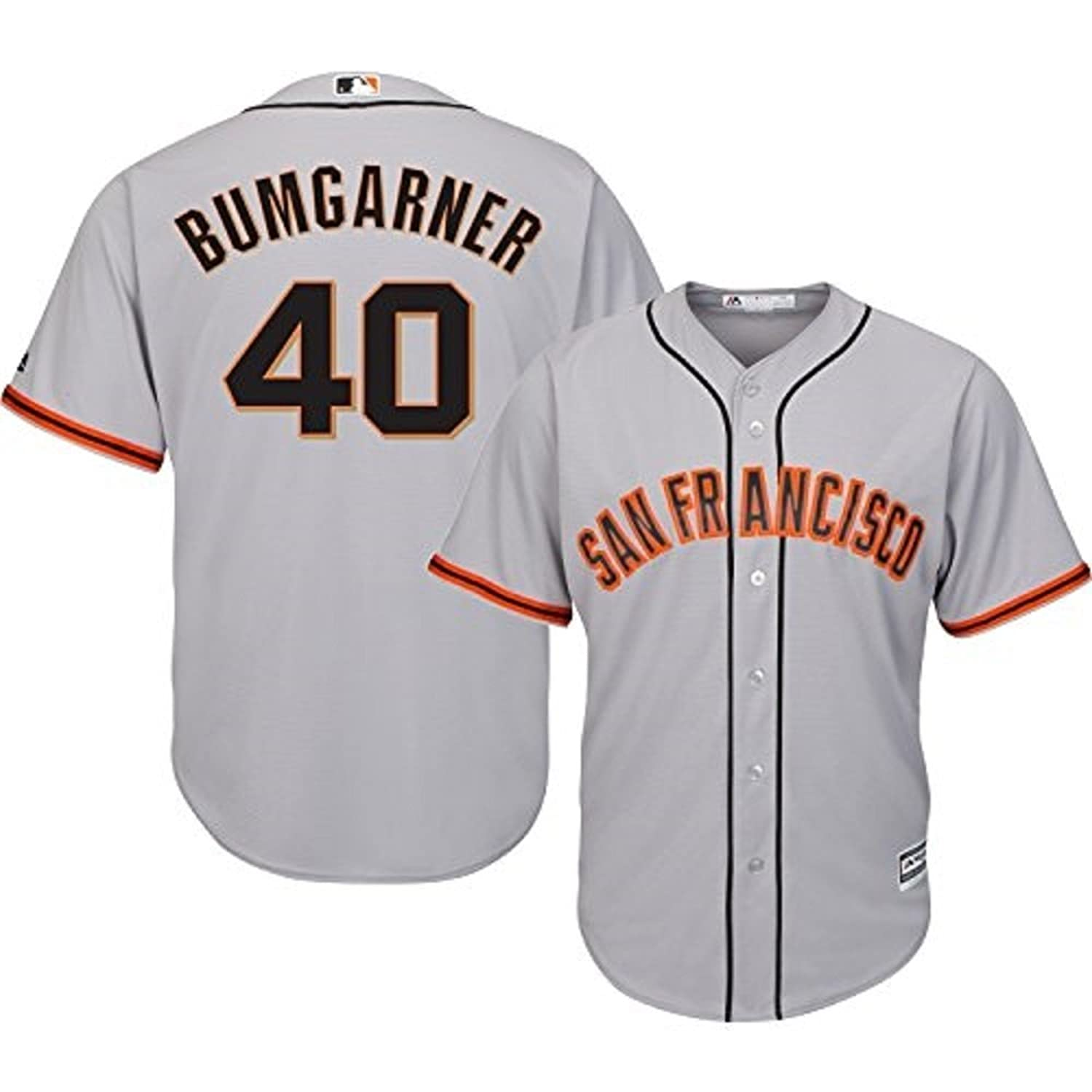 ee6c9a40 cheap Madison Bumgarner San Francisco Giants MLB Majestic Infants Gray Road Cool  Base Replica Jersey