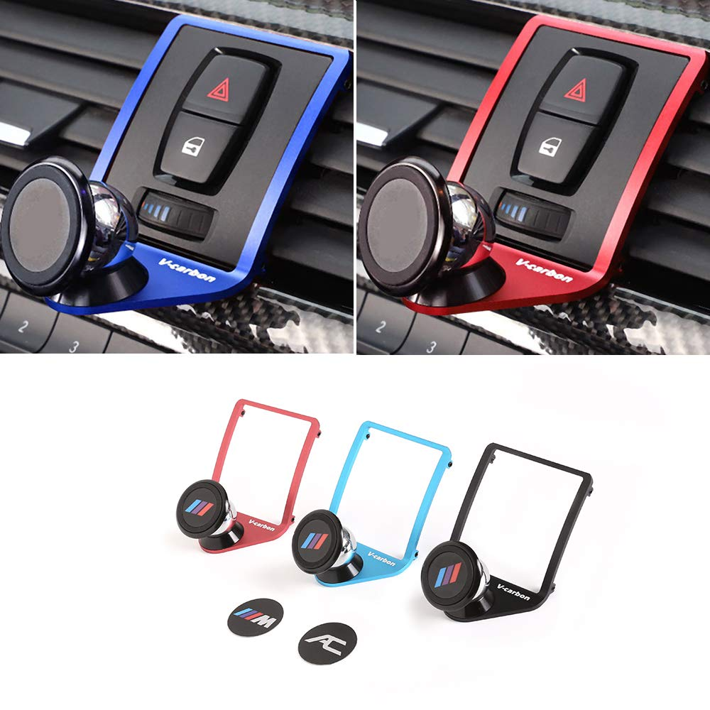 3 Colours Alumium Alloy Mobile Phone Holder Trim for BMW 3 4 Series GT F30 F30 F34 F32 F33 F36 2013-2019 Car Accessories Blue