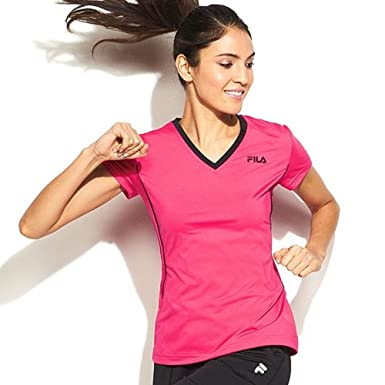 7f802ba4a1fc Image Unavailable. Image not available for. Color  FILA SPORT Women s Core Racer  Performance Tee with Media ...