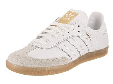 294b87b7fd6 adidas Women s Samba Originals White Gold Metallic Casual Shoe 7.5 Women US