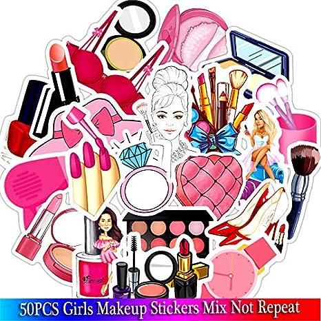 Inveroo 50 Unids Nuevo Maquillaje Niñas Pegatinas Rosas Conjuntos ...
