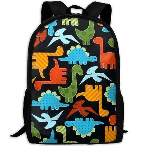 School BAG27 Urban Zoologie Dinosaurs - Mochila Escolar Brillante con Diseño de Dinosaurios