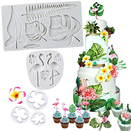 SAKOLLA Hawaiian Tropical Theme Cake Fondant Mold