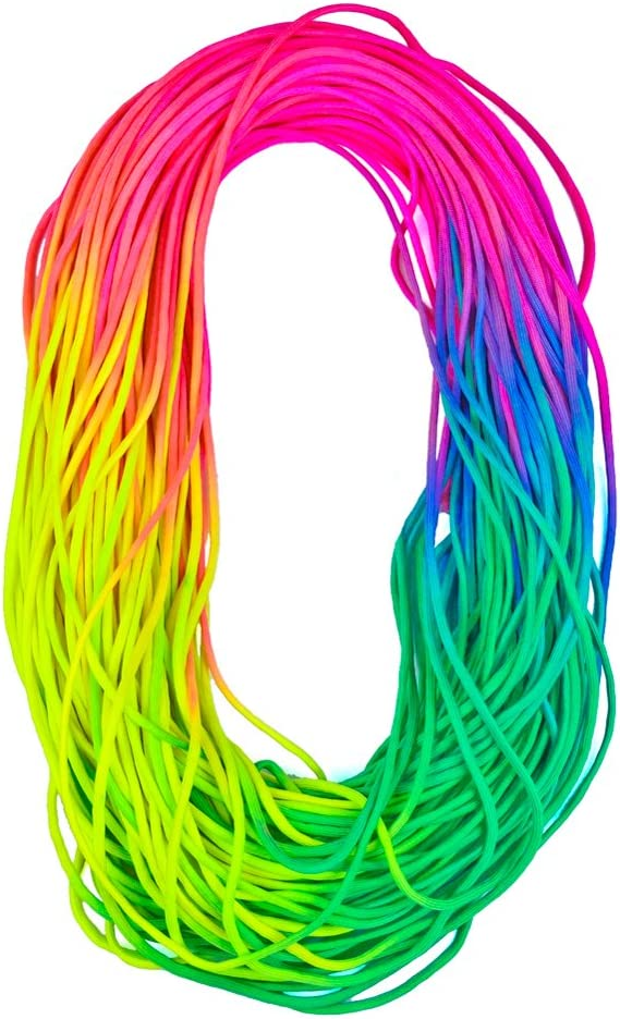 Colorful Rainbow Cord Tie Dye Style Type III 7 Strand 550 Paracord Bold /& Pastel Available in two shades