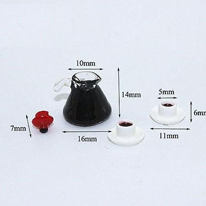 Amazoncom 112 Dollhouse Miniature Coffee Pot And Cups Set