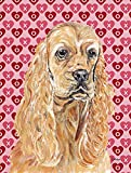 Caroline's Treasures SC9556CHF Cocker Spaniel Valentine's Love Flag Canvas, Large, Multicolor Review