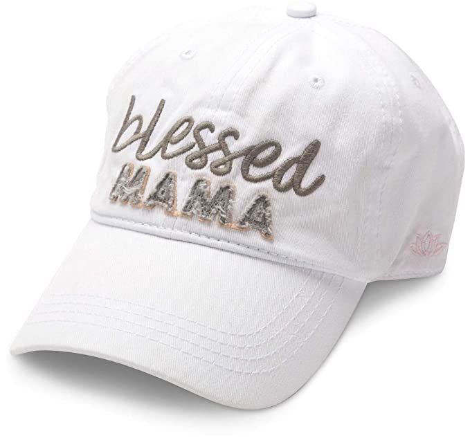 Blessed Mama White Adjustable Snapback Baseball Hat