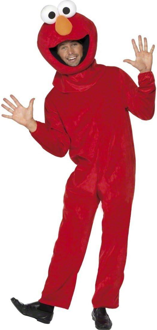 Disfraz original de Elmo-Barrio Sésamo traje oficial: Amazon.es ...