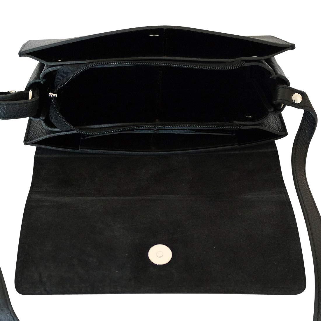 477dadb8e8 Chapeau-tendance - Sac à main bandoulière cuir noir Edora - - Femme:  Amazon.fr: Chaussures et Sacs