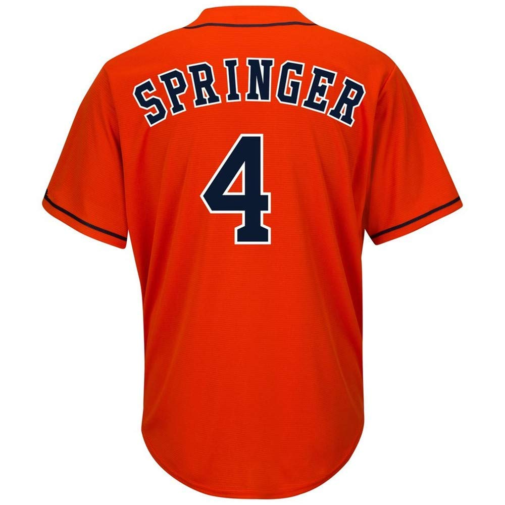 CNmlb Mens//Women//Youth/_George/_#4/_Springer/_White/_Alternate/_Cool/_Base/_Player/_Jersey