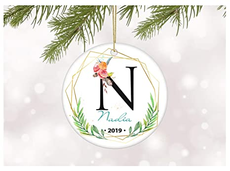 Christmas Ideas 2019 For Her.Amazon Com 2019 Christmas Ornament Celebrating Nadia