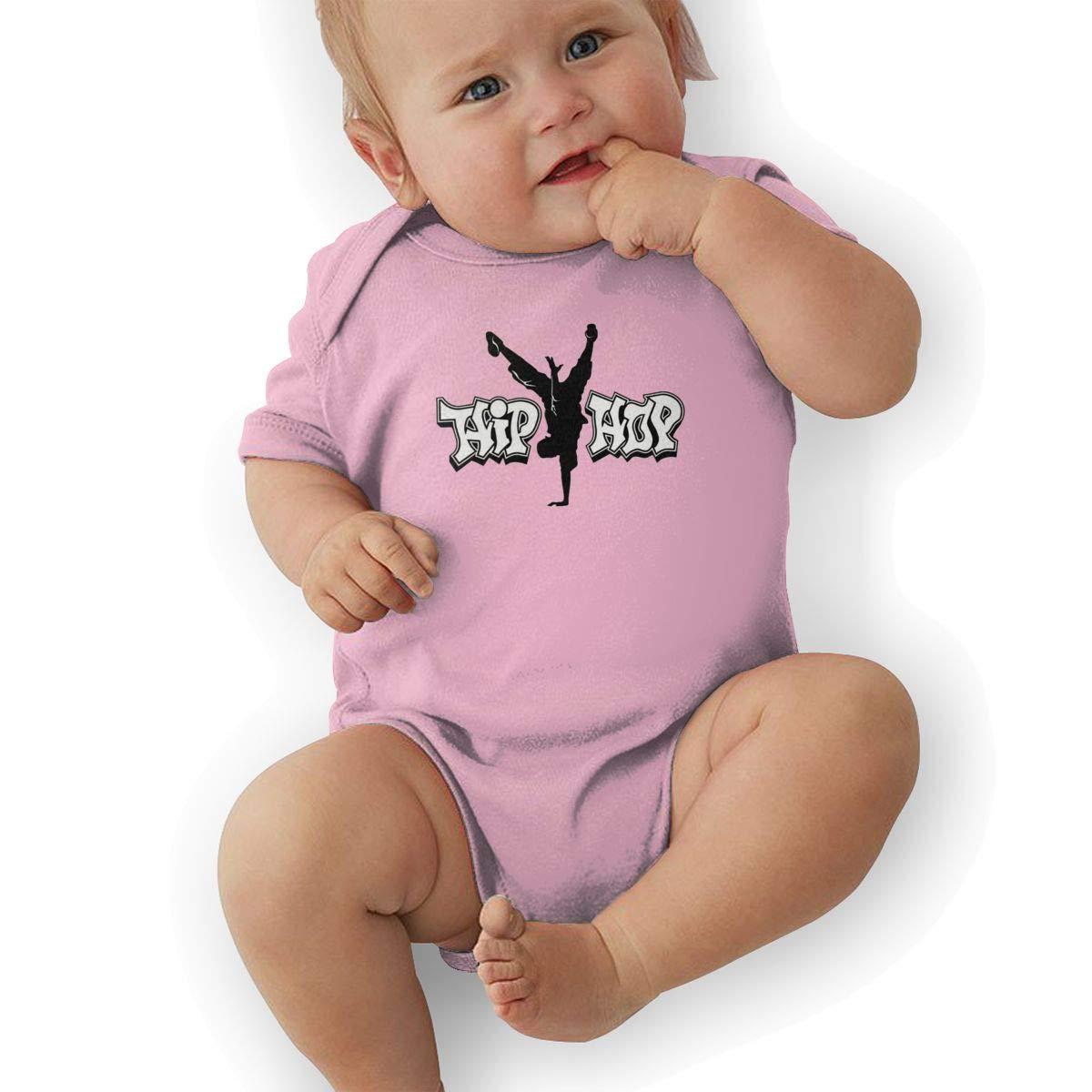 HappyLifea Hip Hop Newborn Baby Short Sleeve Romper Infant Summer Clothing